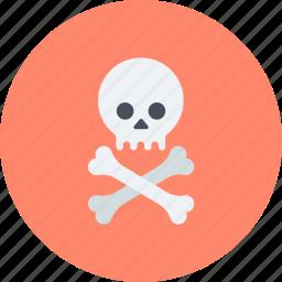 bones, danger, jolly roger, skull, toxic icon