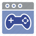 browser, control, controller, online game, play, play station, record icon