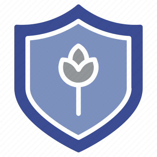 agriculture shield, farming, flower, lifeguard, protection icon