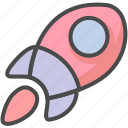 missile, speed up, startup icon