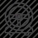 game, gaming, racing, steering, wheel icon