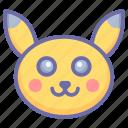 cartoon character, game, pikachu, pokemon, pokemon game, pokemon head