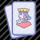 card game, diamond, hazard, king, king diamond, king of spades, playing cards