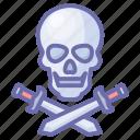 blade, game, knife, pirates, roger, skull, sword