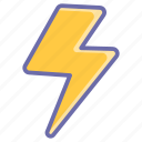 flash, game, gaming, thunder, thunderstorms icon