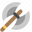 axe, medieval, warrior axe, weapon icon