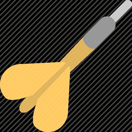 arrow, darts, playing darts, yellow dart icon