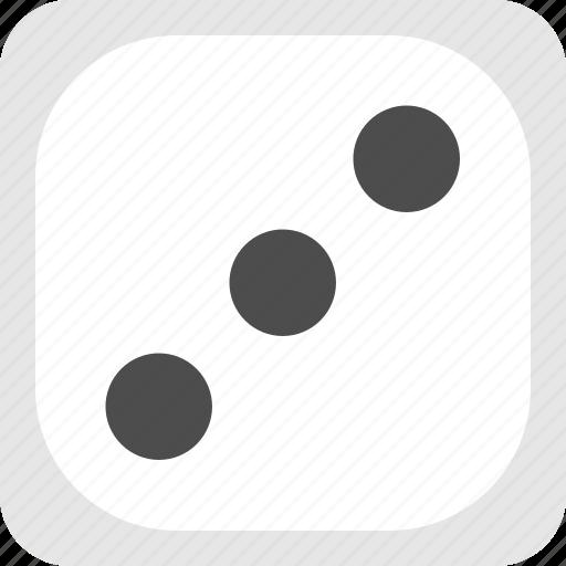 board game dice, dice, game dice, three dice icon