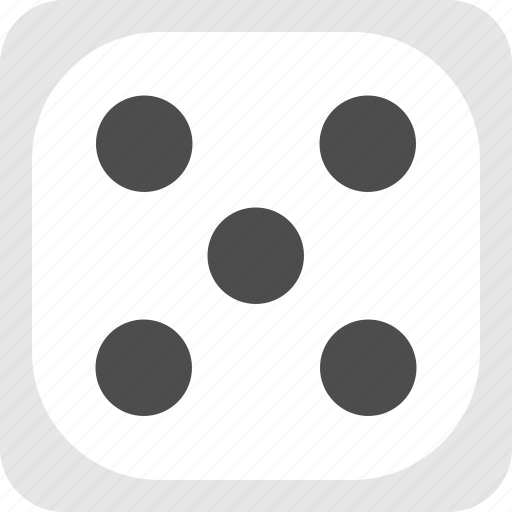dice, five dice, five die, playing dice icon