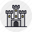 castle, defense, fort, fortress, landmark, medieval, sandbox