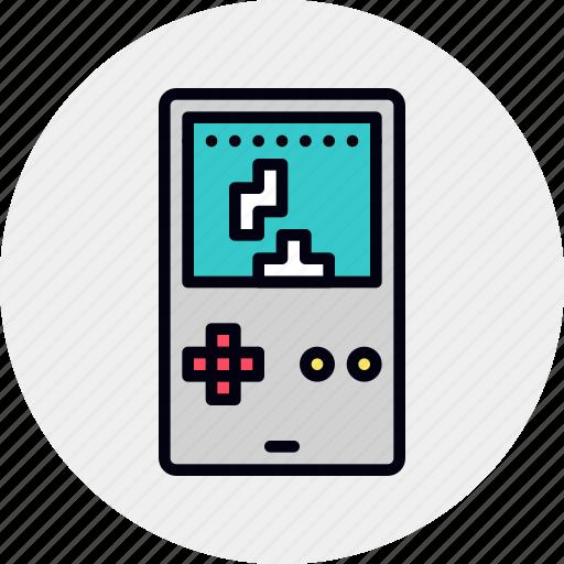 console, game, gameboy, handheld, puzzle, retro, tetris icon