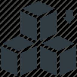 blocks, boxes, cubes, square box, squares icon
