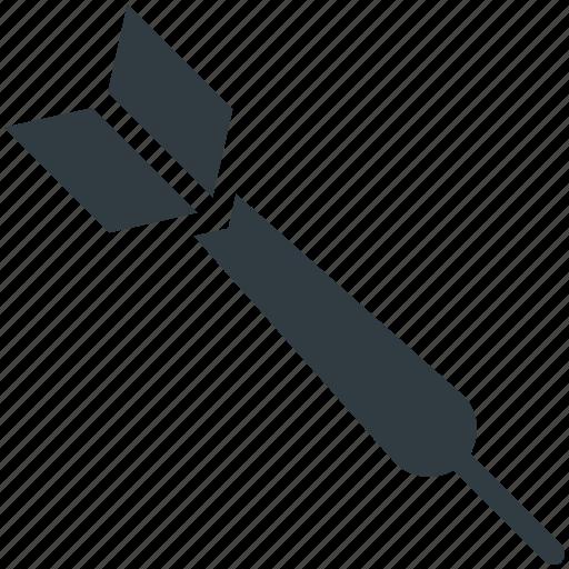 archery, archery arrow, bullseye arrow, dart pin, dart stick icon