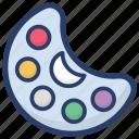 color palette, paint bold, paint palette, painting, painting tool icon