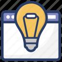 idea, innovation, invention, template idea, web ideas icon