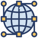communication network, global network, global satellite communication, global technology, satellite global network icon