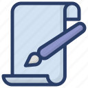 article writing, blogging, content development, content writing, drafting icon