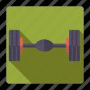 axle, car, parts, repair, service, tires, wheels icon