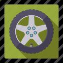 car, parts, repair, rim, service, tire, wheel icon