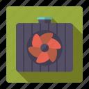car, cooler, fan, parts, repair, service icon