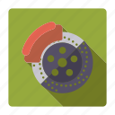 automotive, brake, brake disk, car, parts, repair, service icon