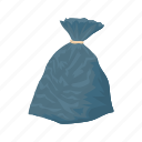 ecology, dump, garbage, plastic, bag, trash, cartoon icon