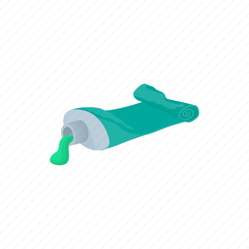 cartoon, garbage, hygiene, plastic, toothpaste, tube, used icon