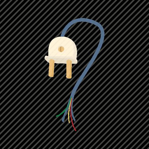 broken, cartoon, electric, electrical, electricity, energy, plug icon