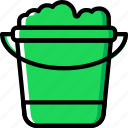 bucket, flower, garden, plant, soil icon