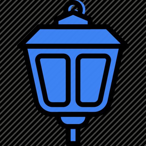 flower, garden, lamp, plant, soil, street icon