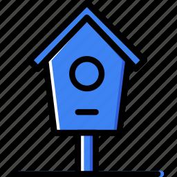 bird, flower, garden, house, plant, soil icon