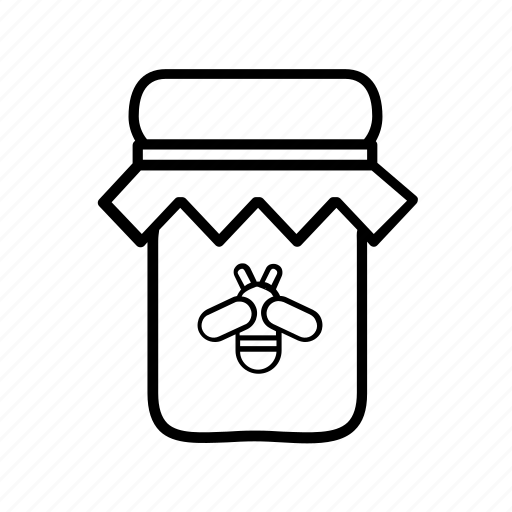 bee, bottle, honey, honey jar, jar, sweet icon