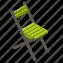 balcony, chair, folding, garden, rest, terrace, wooden icon