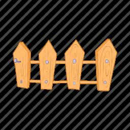 cartoon, design, element, farm, fence, picket, wooden icon