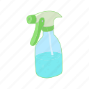 bottle, cartoon, plant, plastic, spray, sprayer, water icon