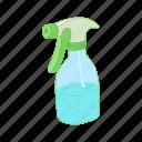 plant, plastic, water, spray, sprayer, bottle, cartoon