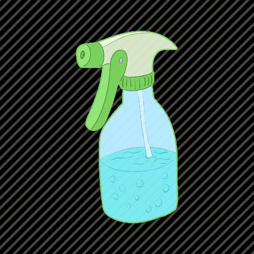 bottle, cartoon, plant, plastic, spray, sprayer, water icon