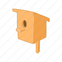 bird, box, cartoon, home, house, nature, nest icon