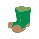 boot, cartoon, footwear, rubber, shoe, waterproof, weather icon