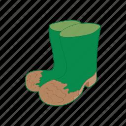 boot, cartoon, footwear, rubber, shoe, waterproof, weather icon