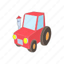 equipment, field, red, farming, agriculture, cartoon, tractor