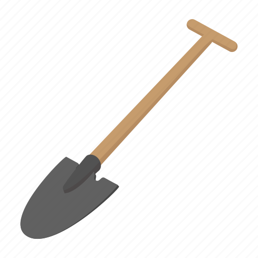agriculture, cartoon, digger, shovel, spade, steel, tool icon