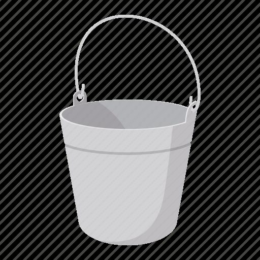 bowk, bucket, bucketful, kibble, pail, skip, tub icon
