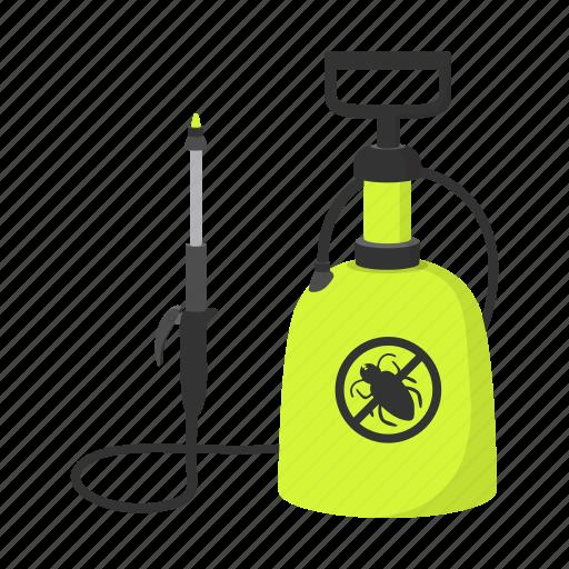 bug, cartoon, pest, raid, sanitation, spray, spraying icon
