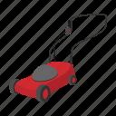 cartoon, cutter, equipment, gardening, lawn, mower, roller icon