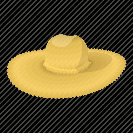 cap, cartoon, cotton, hat, head, straw, summer icon
