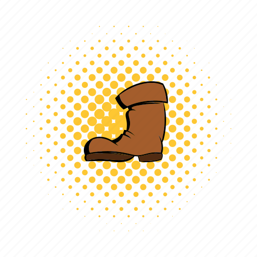 boot, casual, clothing, comics, equipment, high, wear icon