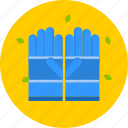 blue, garden, gloves, yellow icon