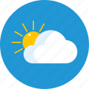 cloud, garden, raise, sun, weather icon