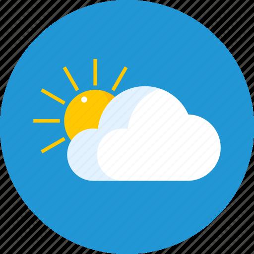 cloud, garden, raise, sun, weather icon